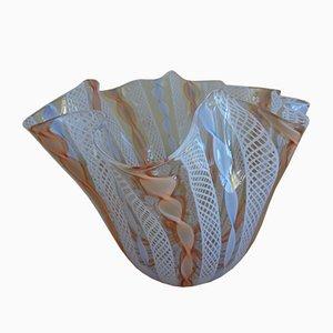 Vaso centrotavola vintage in vetro di Murano di Vetreria Cenedese, anni '70