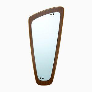 Vintage Asymmetric Teak Mirror