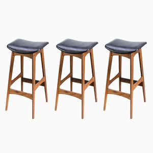 Bar Stools by Johannes Andersen for J. Skaaning & Son, 1950s, Set of 3