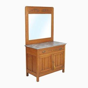 Italian Art Nouveau Vanity Cabinet