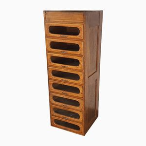 Haberdashery Oak Cabinet with 8 Drawers, 1930s