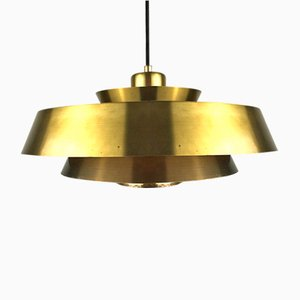 Brass Nova Pendant Light by Jo Hammerborg for Fog & Mørup, 1963