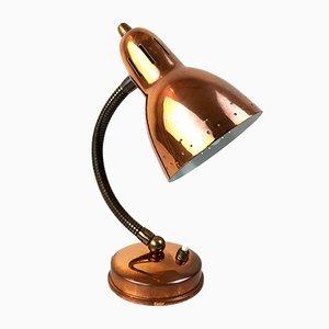 Lámpara de mesa de cobre de Svend Aage Holm Sørensen para Asea, años 60
