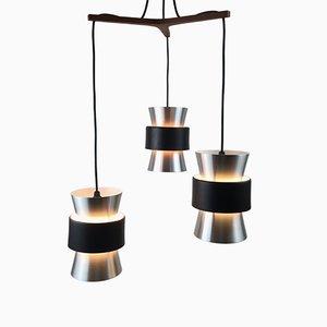 Dreiteilige Deckenlampe von Johannes Hammerborg für Fog & Mørup, 1960er