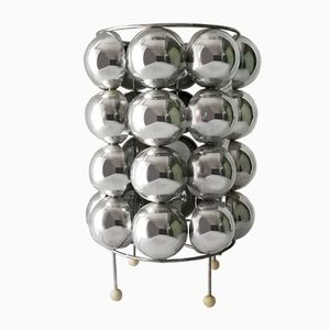 Kugelförmige Space Age Tischlampe aus Chrom, 1970er