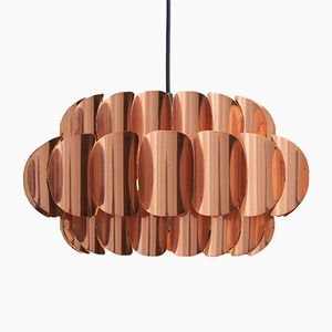 Red Copper Leaf Suspension Lamp by Thorsten Orrling for Markaryd, 1960s