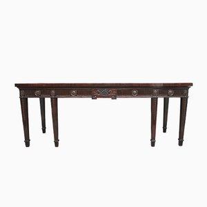 Tavolo grande in mogano, fine XVIII secolo