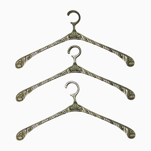 Industrielle Garderobe aus Messing, 1970er, 3er Set