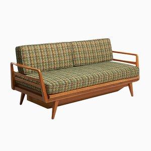 Sofá cama vintage de fresno de Walter Knoll