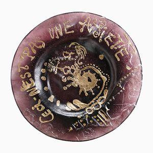 Ceci N'est Pas Une Assiette Plate by Salvador Dali for Daum, 1972