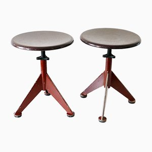Industrial Workshop Stools from AB Odelberg-Olsen, 1930s, Set of 2