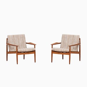 Dänische Lehnstühle von Arne Vodder für Glostrup, 1960er, 2er Set