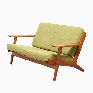 Vintage Model GE-290 Oak Sofa by Hans J. Wegner for Getama