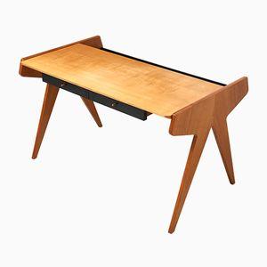 Schwarz lackierter Schreibtisch aus Eschenholz von Helmut Magg für WK Möbel, 1950er
