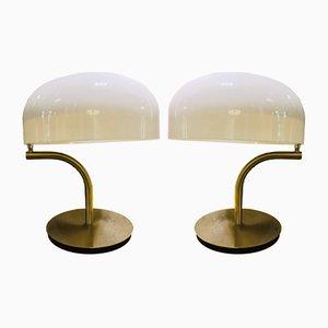 Lampade da tavolo vintage di Giotto Stoppino per Valenti Luce, set di 2