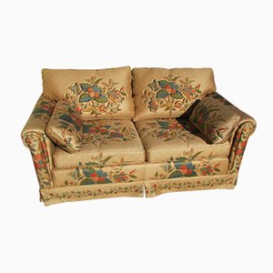 2 Seater Floral Fabric Sofa, 1980s