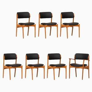 Dining Chairs by Erik Buck for O.D Mobler, 1960s, Set of 7