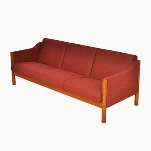 Vintage Red Wool Sofa