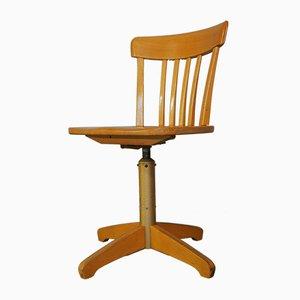 Vintage Industrial Swivel Desk Chair from Ama Elastik, 1940s