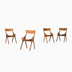 Esszimmerstühle von Arne Hovmand Olsen für Mogens Kold, 1960er, 4er Set
