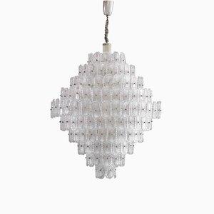 Italienische Mid-Century Kristallglaslampe