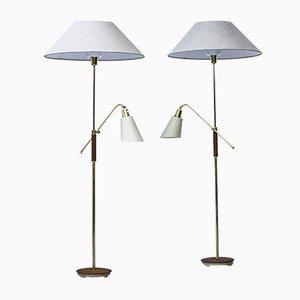 Schwedische Triva Stehlampe von Bertil Brisborg für Nordiska Kompaniet, 1952, 2er Set