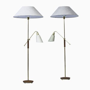 Swedish Triva Floor Lamps by Bertil Brisborg for Nordiska Kompaniet, 1952, Set of 2