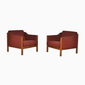 Vintage Wool Armchairs, Set of 2