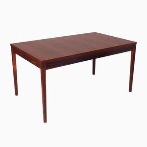 Mesa de comedor vintage de palisandro