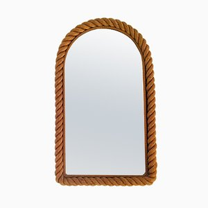 Large Rope Mirror by Adrien Audoux & Frida Minet, 1950s