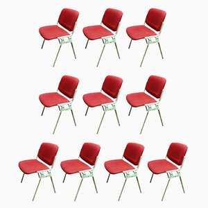 DSC 106 Chairs by Giancarlo Piretti for Castelli, 1960s, Set of 10