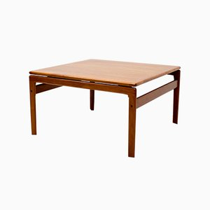Danish Teak Square Coffee Table from Trioh, 1960s