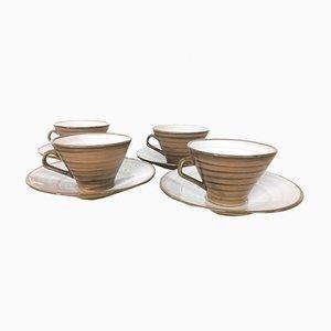 Servicio de café o té de cerámica de Niderviller, años 70