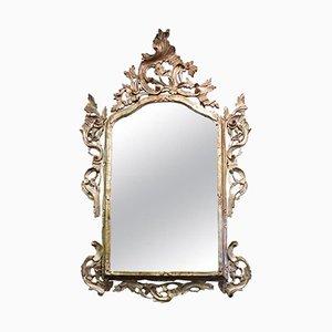 Specchio vintage intagliato e argentato, anni '50
