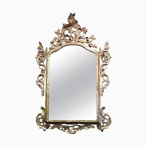 Vintage Carved and Silvered Mirror, 1950s