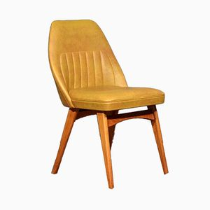 Mid-Century Teak and Leather Cocktail Chair