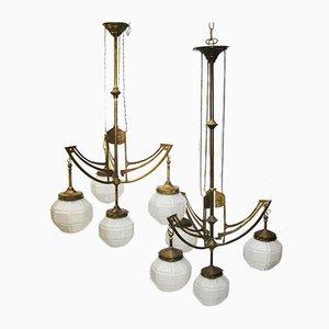 Lampade da soffitto antiche, set di 2