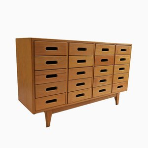 Beech Chest of Drawers by James Leonard for ESA, 1950s