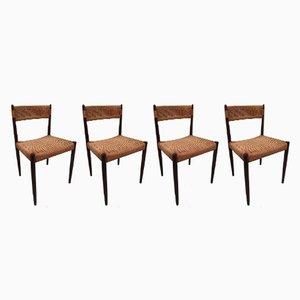 Dänische Vintage Stühle aus Papierkordel, 4er Set