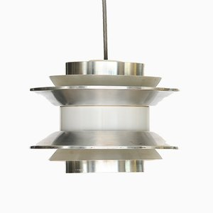 Trava Brushed Aluminium Pendant Light by Carl-Thore for Granhaga Metallindustri, 1970s