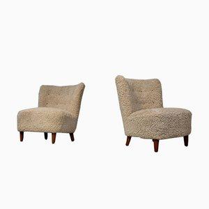Schwedische Vintage Sessel, 1950er, 2er Set