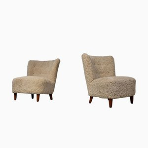 Vintage Swedish Easy Chairs, 1950s, Set of 2