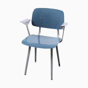 Blue and Grey Revolt Chair by Friso Kramer for Ahrend De Cirkel, 1964