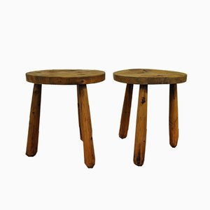 Vintage Swedish Stools, 1940s, Set of 2