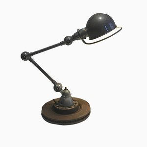 Green Industrial Articulated Desk Lamp from Jieldé, 1950s