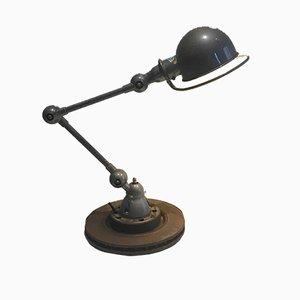 Lámpara de escritorio industrial articulada verde de Jieldé, años 50