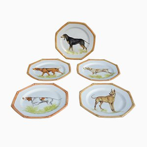 Vintage Ceramic Plates from Ceramiche Este, 1950s, Set of 5
