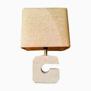 Vintage Brutalist Stone Lamp, 1970s