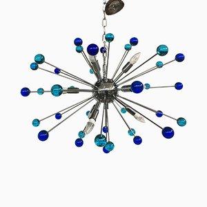 Lampadario Sputnik in vetro di Murano di Italian light design