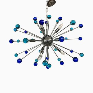Sputnik Kronleuchter aus Muranoglas von Italian light design